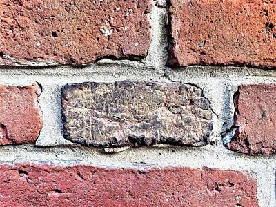 Photograph - Old North Church Bricks by Rob Hans