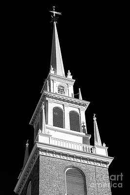 Photograph - Old North Church Star Boston by John Rizzuto