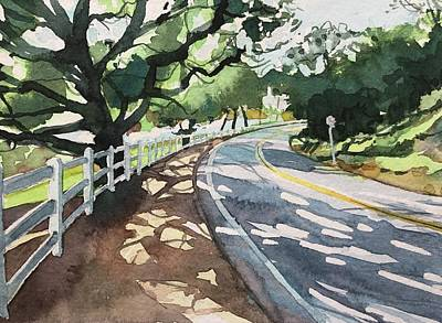 Animal Watercolors Juan Bosco - Old Oak on Lake Vista by Luisa Millicent