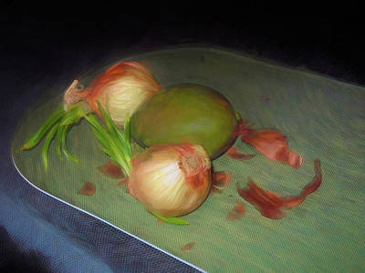 Mixed Media - Old Onions And Peels, Stylized by Lynda Lehmann