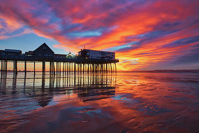 Photograph - Old Orchard Beach Pier by Juergen Roth