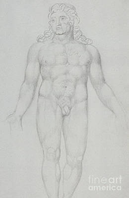 Drawing - Old Parr When Young, 1820 by William Blake