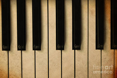 Old Piano Vintage Background Art Print by Midiwaves