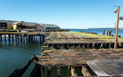 Photograph - Old Pier At Semiahmoo by Tom Cochran