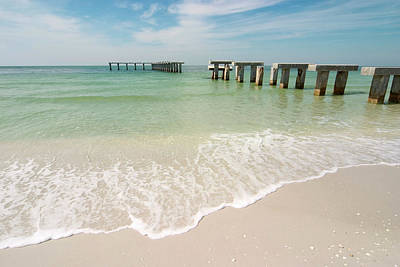 Photograph - Old Pier On Beach At Gasparilla Island by Myloupe/uig