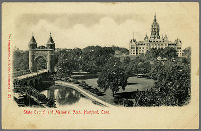 Photograph - Old Postcard Of Hartford Connecticut by Phil Cardamone