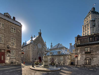 Town Square Wall Art - Photograph - Old Quebec City Square by Melinda Moore