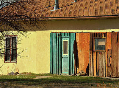 Photograph - Old Ranch Building In Spring Sunlight by Kae Cheatham