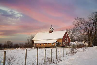 Photograph - Old Red Barn by Darylann Leonard Photography