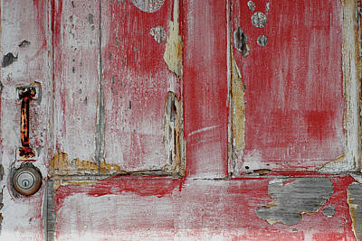 Photograph - Old Red Door by Perry Correll