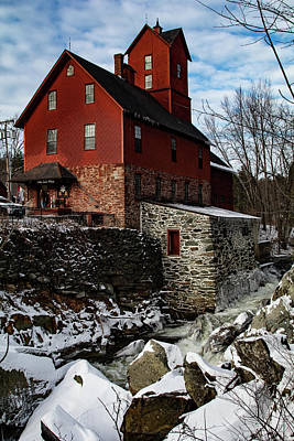 Photograph - Old Red Mill In Jericho Vermont by Jeff Folger