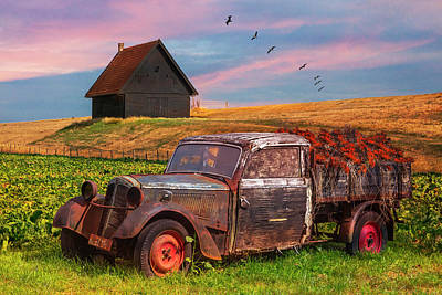 Photograph - Old Retired Rusty  by Debra and Dave Vanderlaan