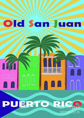Royalty-Free and Rights-Managed Images - Old San Juan Puerto Rico by Zaira Dzhaubaeva