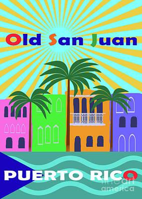 Digital Art - Old San Juan Puerto Rico by Zaira Dzhaubaeva