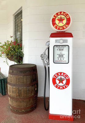 Photograph - Old Shcool Gas Pump by Dale Powell