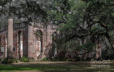 Photograph - Old Sheldon Church Ruins - Yemassee by Dale Powell