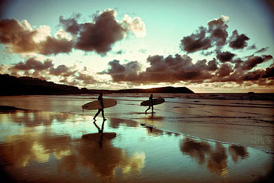 Holding Photograph - Old Skool Surf by Landscapes, Seascapes, Jewellery & Action Photographer
