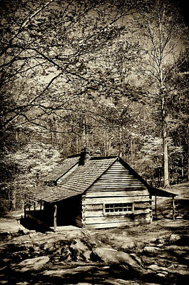 Photograph - Old Smoky Mtn Cabin by Paul W Faust -  Impressions of Light
