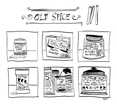 Drawing - Old Spice by Sara Lautman