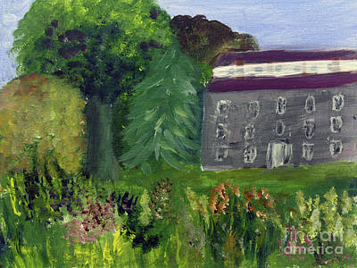 Painting - Old Stone House Garden by Donna Walsh