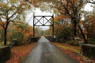 Photograph - Old Swinging Bridge by Wesley Nesbitt