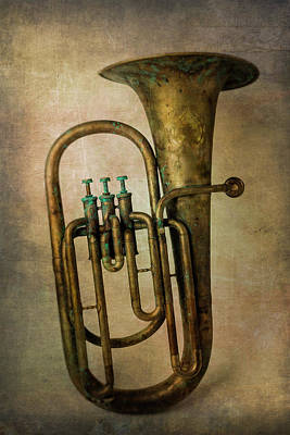 Photograph - Old Textured Tuba by Garry Gay