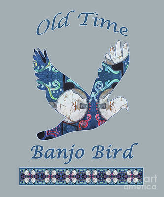Mixed Media - Old Time Banjo Bird  by Sue Duda