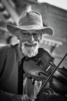 Photograph - Old Time Fiddler Of Madison County by John Haldane