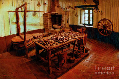 Photograph - Old Tool Factory San Fernando Mission  by Blake Richards