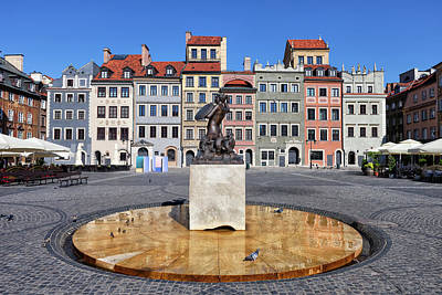 Photograph - Old Town Market Square Of Warsaw In Poland by Artur Bogacki