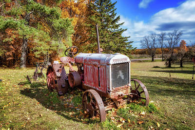 Photograph - Old Tractor by Susan Rissi Tregoning