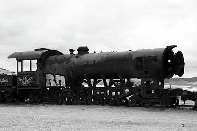 Photograph - Old Train, Uyuni, Bolivia by Aidan Moran