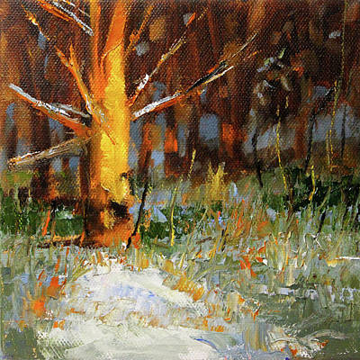 Painting - Old Tree In The Forest by Nancy Merkle