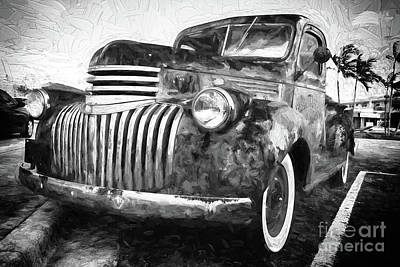Digital Art - Old Truck  - Painterly by Les Palenik