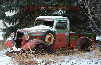 Wild Weather - Old Trucks and Christmas by Whispering Peaks Photography