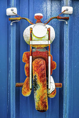 Photograph - Old Vintage Motorcycle Rusty Biker Art by Gregory Ballos