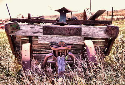 Kitchen Food And Drink Signs - Old wagon tilting into the sod by Jeff Swan