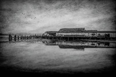 Photograph - Old Warf Reflection by Garry Gay