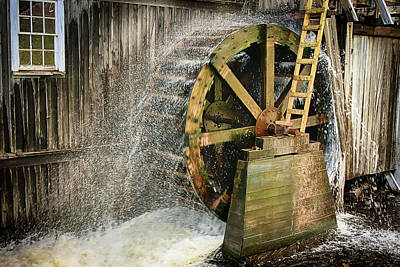 Photograph - Old Mill Water Wheel by Tatiana Travelways