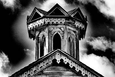 Photograph - Old Weathered Barn Cupola In Bw by Paul W Faust - Impressions of Light