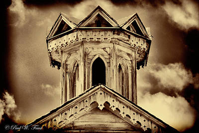 Photograph - Old Weathered Barn Roof Cupola  by Paul W Faust - Impressions of Light