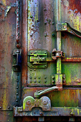 Photograph - Old Weathered Railroad Boxcar Door by Paul W Faust - Impressions of Light