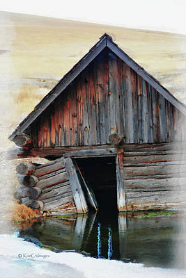 Mixed Media - Old Well House #2 by Kae Cheatham
