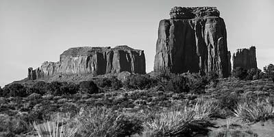 Photograph - Old Western Landscape In Black And White by Gregory Ballos
