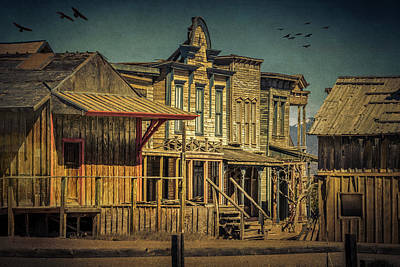 Photograph - Old Western Town by Lou Novick