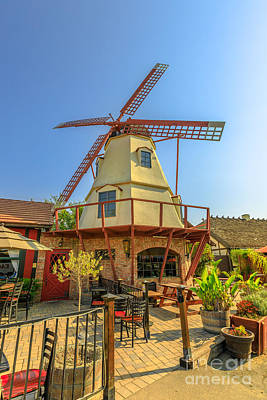 Photograph - Old Windmill In Solvang by Benny Marty