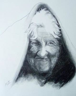 Painting - Old Woman by Marcia Hochstetter