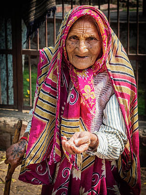 Photograph - Old Woman by Robin Zygelman