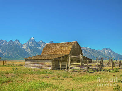 Photograph - Old Wooden Barn Grand Teton by Benny Marty