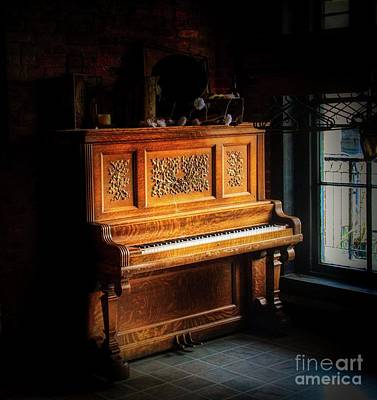 Photograph - Old Wooden Piano by Jim Lepard